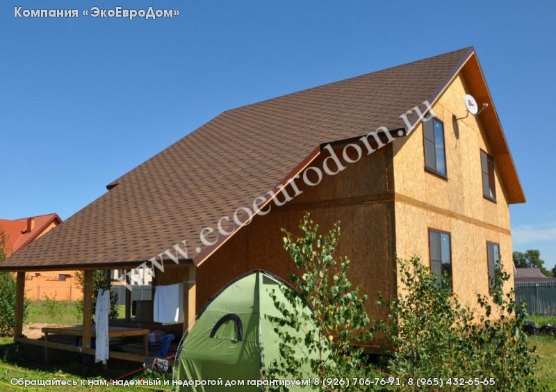 Проект дома из sip-панелей 16-17 загородного двухэтажного с .