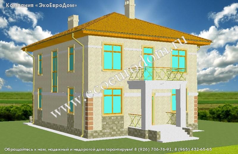 Проект дома из sip-панелей 20-781 двухэтажного сборного карк.
